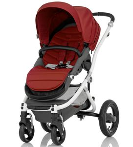 Britax Affinity Complete Stroller, White - Red Pepper