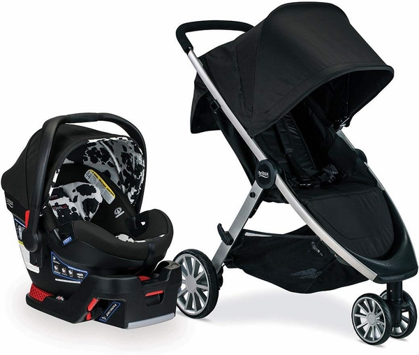Britax B-Lively & B-Safe Ultra Travel System - Cowmooflage