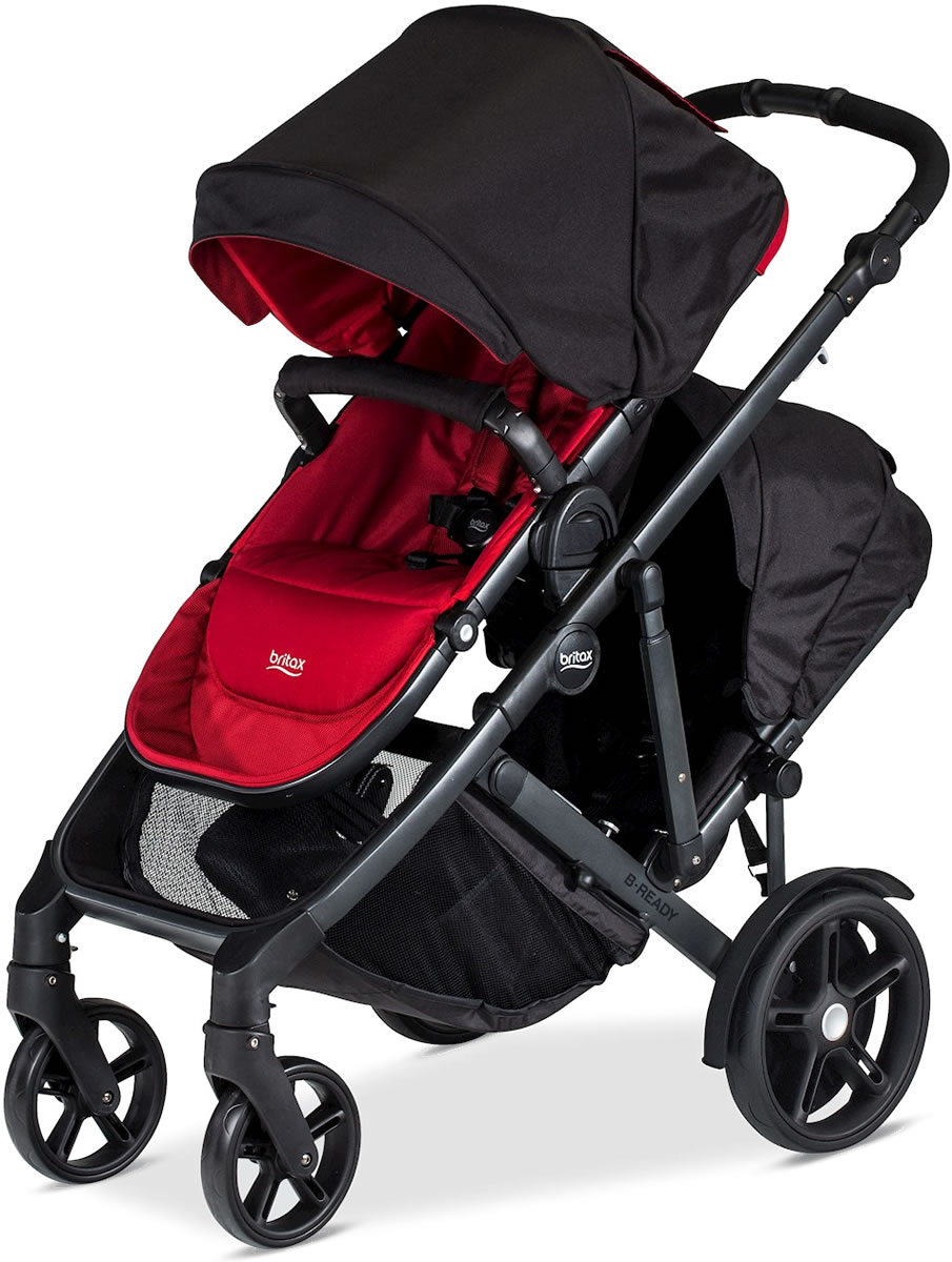 Britax B-Ready 2017 Double Stroller - Poppy