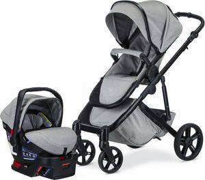 Britax B-Ready & B-Safe Ultra Travel System - Nanotex (Moisture, Odor, and Stain Resistant Fabric)