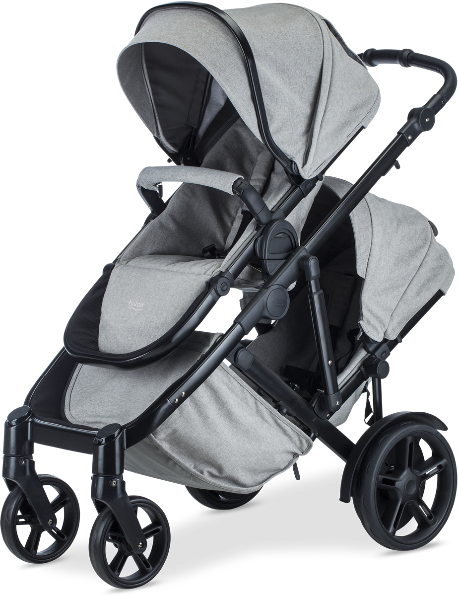 Britax B Ready Double Stroller Nanotex Moisture Odor And Stain Resistant Fabric