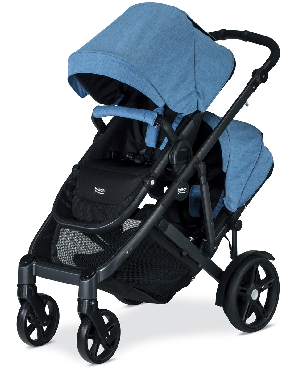 Britax B Ready G3 Double Stroller Lapis Albee Baby Exclusive