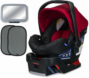 Britax B-Safe 35 Infant Car Seat Bundle - Cardinal