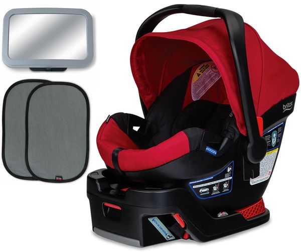 Britax B-Safe 35 Infant Car Seat Bundle - Red