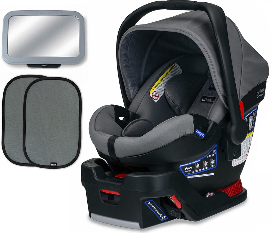 Britax B-Safe Ultra Infant Car Seat Bundle - Gris
