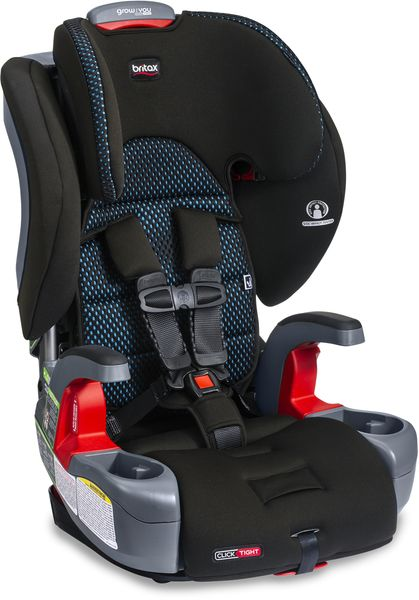 Britax Grow With You Clicktight Harness Booster Car Seat - Cool Flow Teal [New Version of the Frontier]
