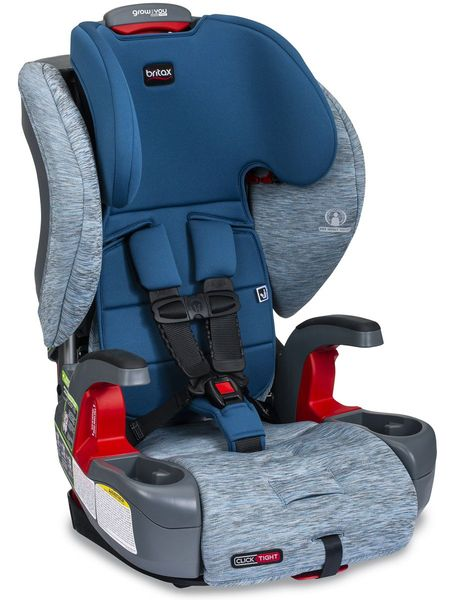 Britax Grow With You ClickTight Harness Booster Car Seat - Seaglass [New Version of the Frontier]