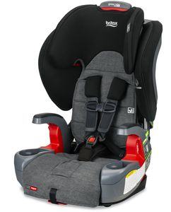 Britax Grow With You Clicktight Harness Booster Car Seat - StayClean Gray