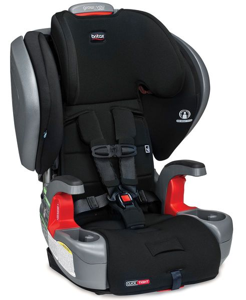Britax Grow With You ClickTight Plus Harness Booster Car Seat - Jet Safewash (Flame Retardant-Free) [New Version of the Pinnacle]