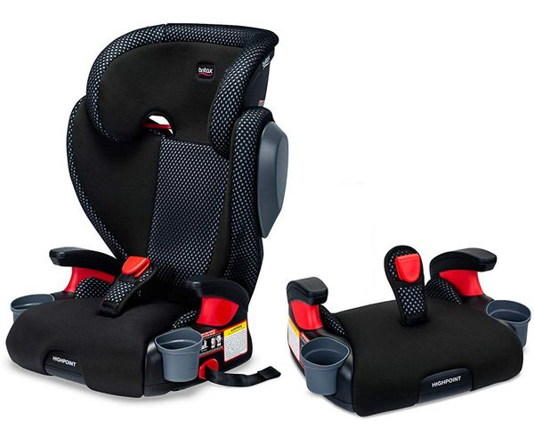 Britax Highpoint 2-Stage Belt Positioning Booster Car Seat - Cool Flow Gray