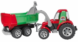 Bruder Roadmax Tractor with Front Loader & Rear Tipper Trailer