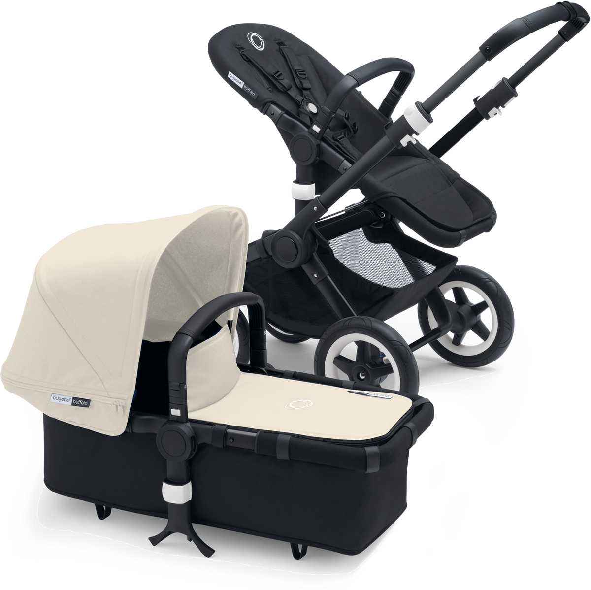 Bugaboo Buffalo Stroller - All Black/Off White