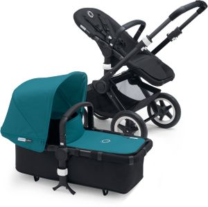 Bugaboo Buffalo Stroller - All Black/Petrol Blue