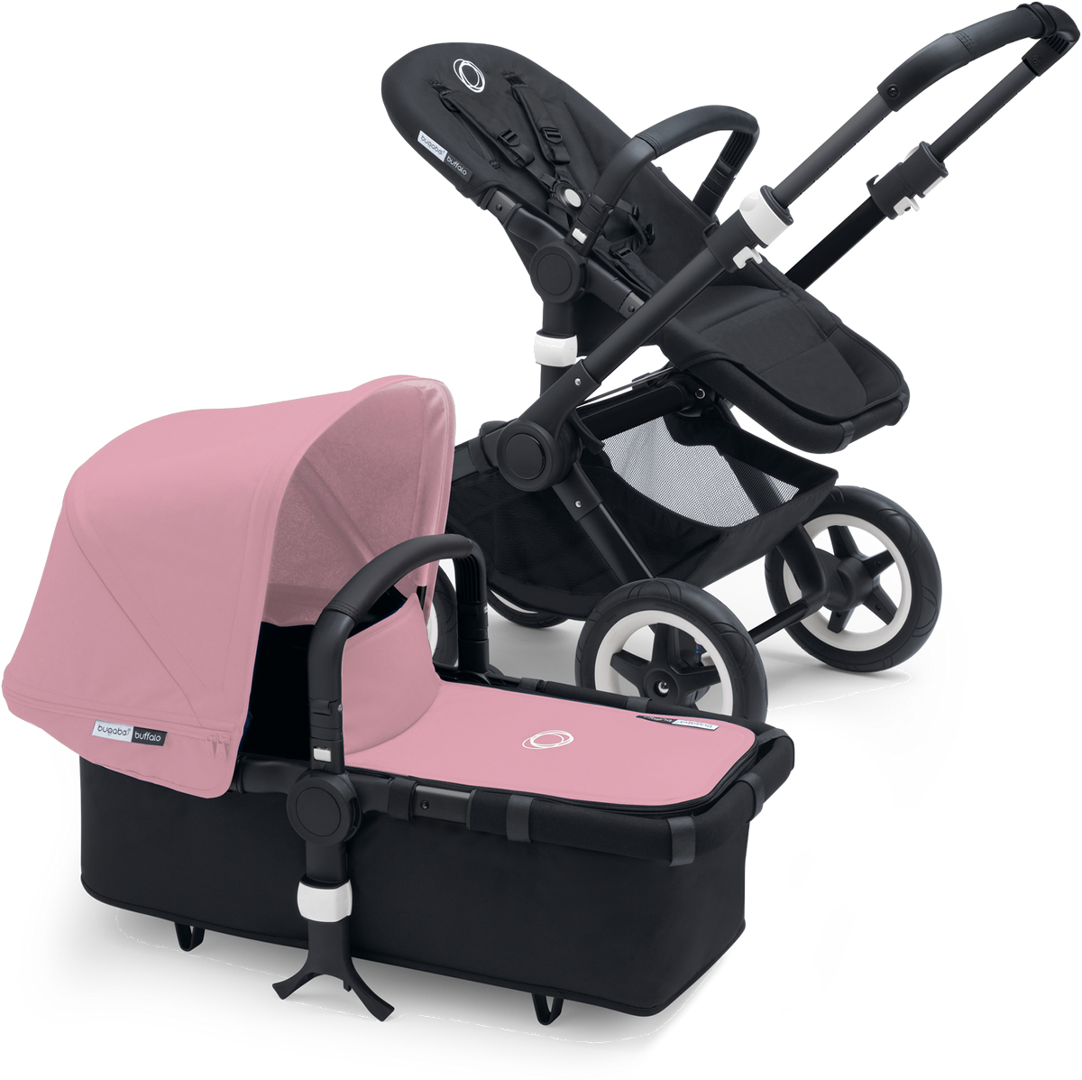 Bugaboo Buffalo Stroller - All Black/Pink