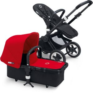 Bugaboo Buffalo Stroller - All Black/Red