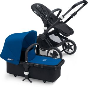 Bugaboo Buffalo Stroller - All Black/Royal Blue