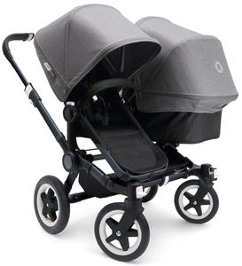 Bugaboo 2016/2017 Donkey Duo Stroller - All Black/Grey Melange
