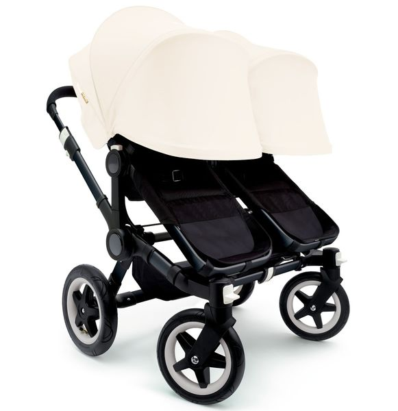 Bugaboo 2016/2017 Donkey Twin Stroller - All Black/Off White