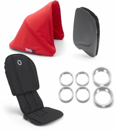 Bugaboo Ant Style Set - Black/Neon Red
