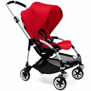 Bugaboo Bee3 Stroller, Silver - Red