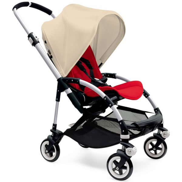 Bugaboo Bee3 Stroller, Silver - Red/Off-White