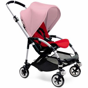 Bugaboo Bee3 Stroller, Silver - Red/Soft Pink