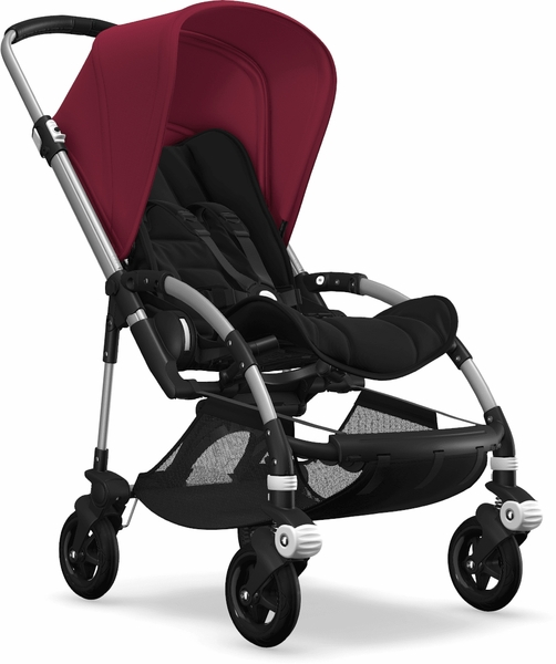 Bugaboo Bee5 Complete Stroller - Aluminum/Black/Ruby Red