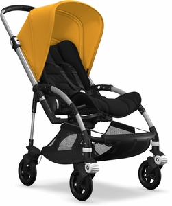 Bugaboo Bee5 Complete Stroller - Aluminum/Black/Sunrise Yellow