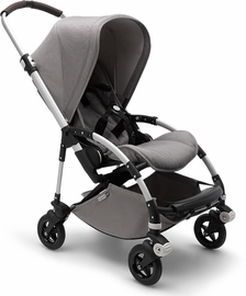 Bugaboo Bee5 Complete Stroller - Aluminum/Mineral Light Grey