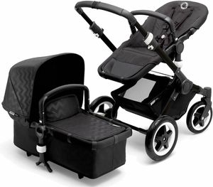 Bugaboo Buffalo Stroller - Black/Shiny Chevron - D