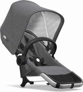 Bugaboo Donkey 2 Classic Duo Extension Set - Aluminum/Grey Melange