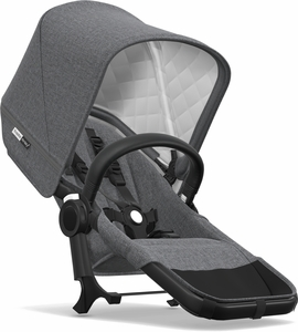 Bugaboo Donkey 2 Classic Duo Extension Set - Black/Grey Melange