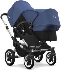 Bugaboo Donkey 2 Duo Complete Stroller - Aluminum/Black/Sky Blue/Sky Blue