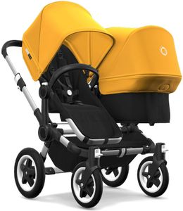 Bugaboo Donkey 2 Duo Complete Stroller - Aluminum/Black/Sunrise Yellow/Sunrise Yellow