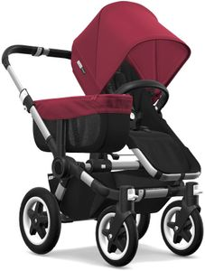 Bugaboo Donkey 2 Mono Complete Stroller - Aluminum/Black/Ruby Red