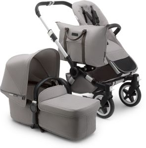Bugaboo Donkey 2 Mono Complete Stroller - Aluminum/Mineral Light Grey
