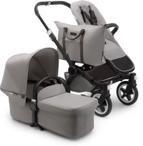 Bugaboo Donkey 2 Mono Complete Stroller - Black/Mineral Light Grey