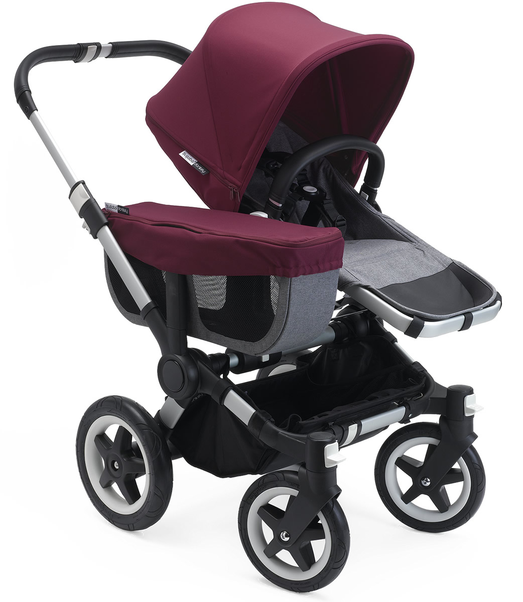 Bugaboo Donkey 2 Mono Complete Stroller - Grey/Red