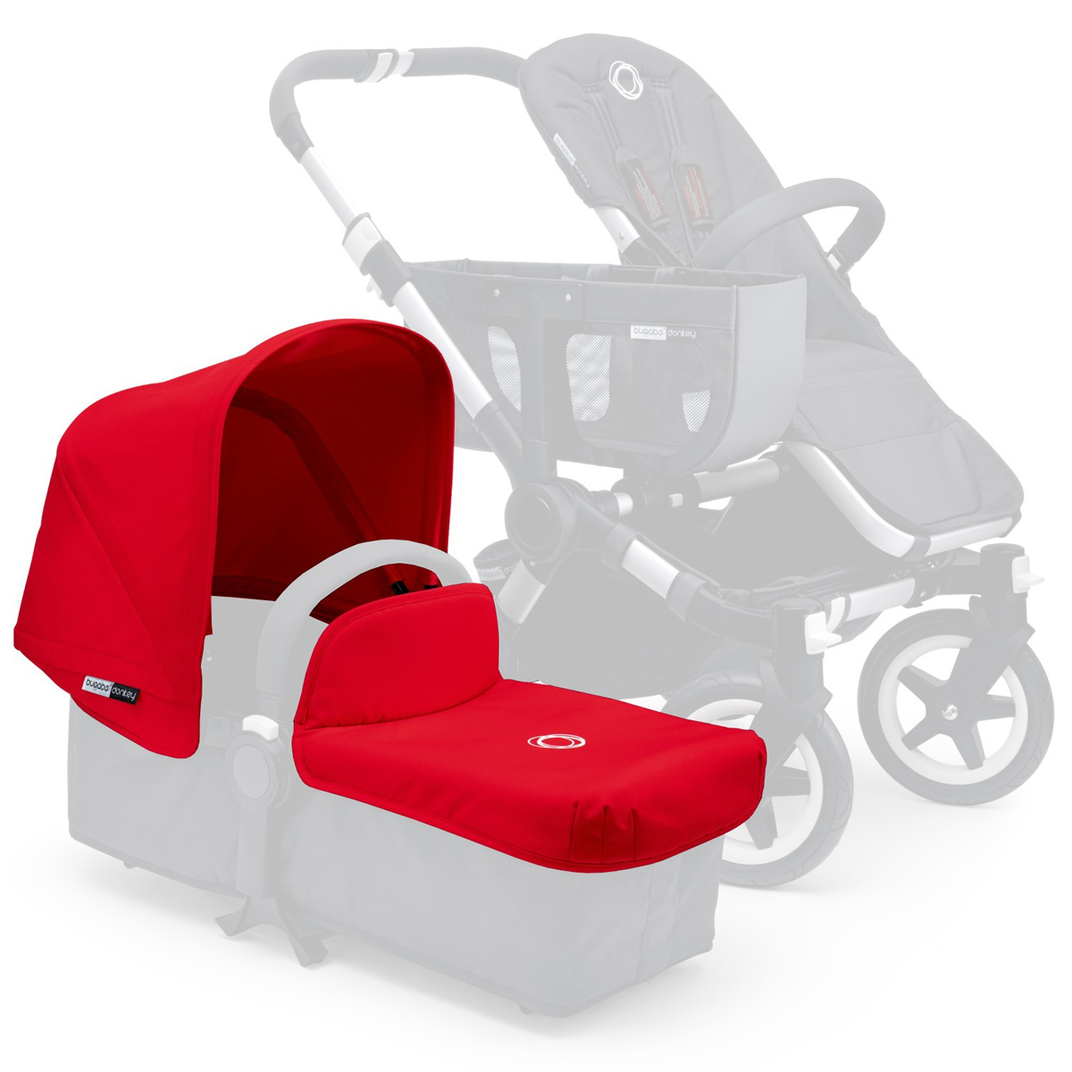 Bugaboo Donkey Tailored Fabric Set 180111 Color: Red