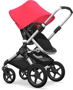 Bugaboo Fox Complete Stroller - Aluminum/Black/Neon Red