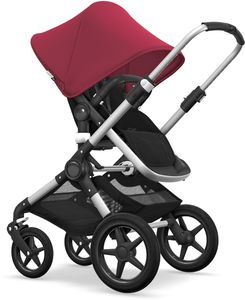 Bugaboo Fox Complete Stroller - Aluminum/Black/Ruby Red