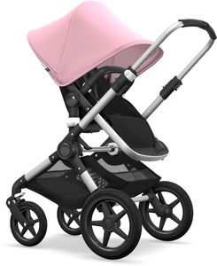 Bugaboo Fox Complete Stroller - Aluminum/Black/Soft Pink