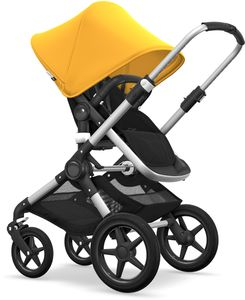 Bugaboo Fox Complete Stroller - Aluminum/Black/Sunrise Yellow