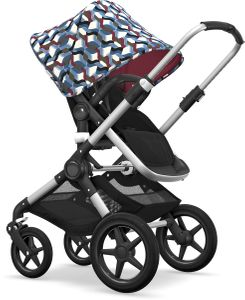 Bugaboo Fox Complete Stroller - Aluminum/Black/Waves