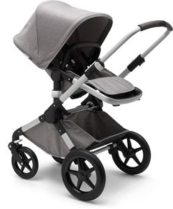Bugaboo Fox Complete Stroller - Aluminum/Mineral Light Grey