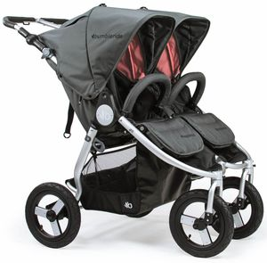 Bumbleride 2019 Indie Twin Double Stroller - Dawn Grey Coral