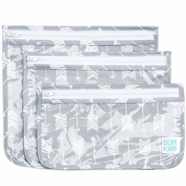 Bumkins Clear Travel Bag, 3 Pack - Arrow