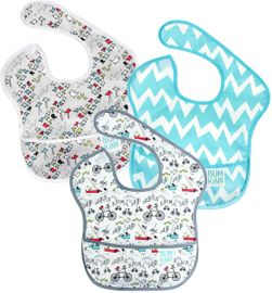 Bumkins SuperBib, 3 Pack - Urban Bird, Bird Park & Blue Chevron