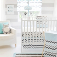 Chevron Baby in Aqua