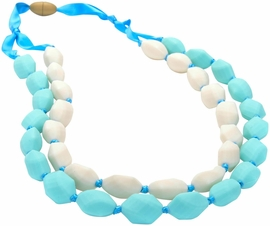 Chewbeads Astor Necklace - Turquoise/Ivory